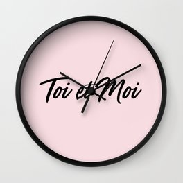 67. French Words : Toi et Moi Wall Clock