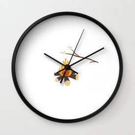 Campfire with marshmallows Wall Clock