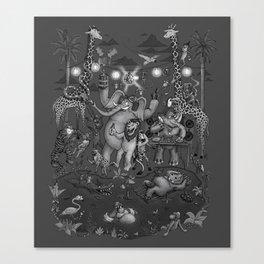 Party Animals - Monotone Version Canvas Print