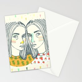Last Sunset Twins Stationery Cards