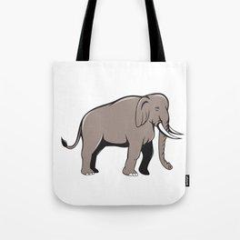 Indian Elephant Side View Cartoon Tote Bag