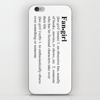 fangirl iPhone & iPod Skins featuring fangirl by maysillee