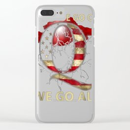 Why Is this Relevant Political QAnon - Letter Q T-Shirt Clear iPhone Case