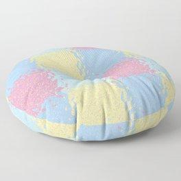 Pastel Jiggly Tile Pattern Floor Pillow