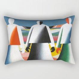 Kazimir Malevich - Girls in the Fields Rectangular Pillow