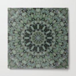 Greens Abstract Metal Print