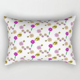Bee Happy Rectangular Pillow