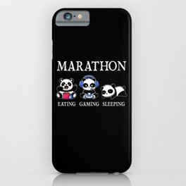 Gaming Gifts Panda Funny Quote iPhone Case