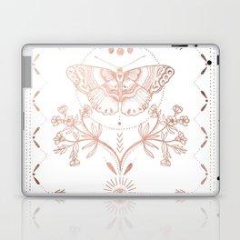 Magical Moth In Rose Gold Laptop & iPad Skin