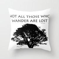 tolkien Throw Pillows featuring Tolkien by Jayrosco