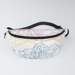 Cute colorful plant lovers design Fanny Pack