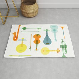 Musical instrument collection Rug