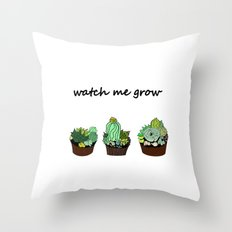 little green cactuses Throw Pillow