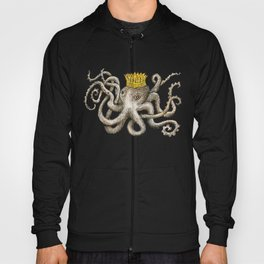 Scribbled Octopus, King of the Sea Hoody
