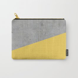 Concrete and Primrose Yellow Color Carry-All Pouch