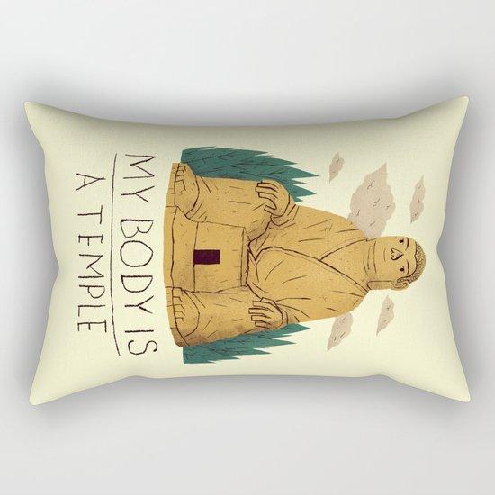 my body is a temple Rectangular Pillow