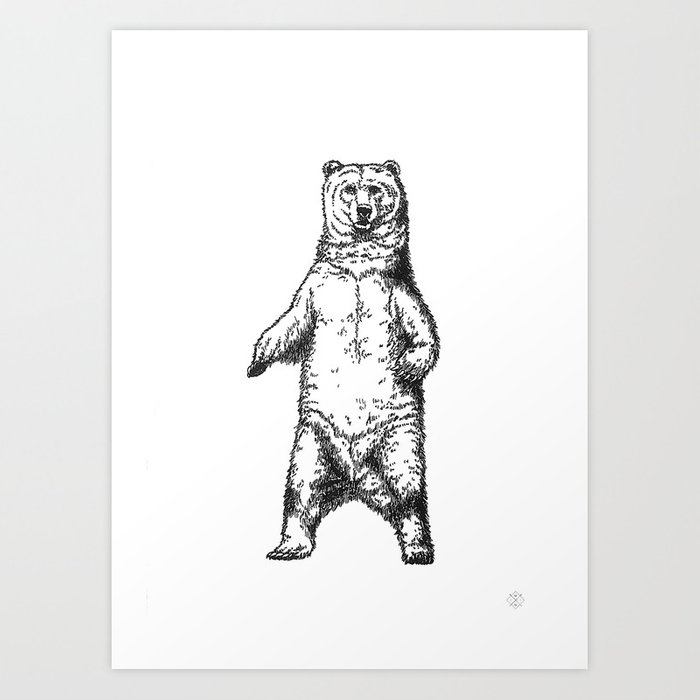 standing bear art print by wildwither society6