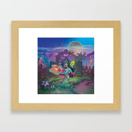 Enter The Dream Sequence - The Lone Gate Framed Art Print