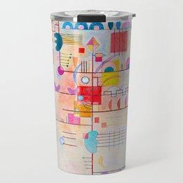 Wassily Kandinsky Gentle Ascent Travel Mug