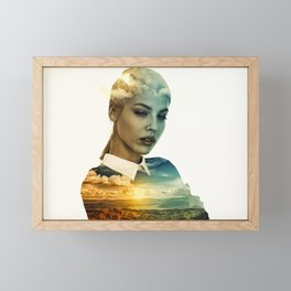 Lost In A Landscape Dream (Portrait) Framed Mini Art Print
