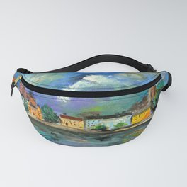 A Night of Color in Riga Fanny Pack
