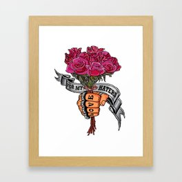 For my haters... Framed Art Print