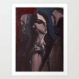 Threeiana Art Print