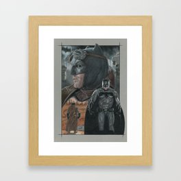 Batfleck Framed Art Print