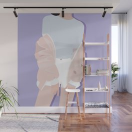 Girl With A Jacket Wall Mural