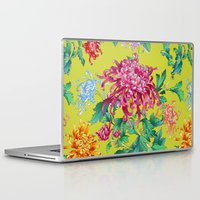 oriental Laptop & iPad Skins featuring Oriental Flowers by Chicca Besso