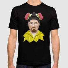 Breaking Bad - Walter White in Lab Gear Mens Fitted Tee Black LARGE