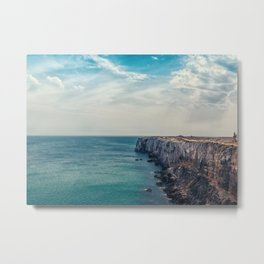 Cliff into the ocean Metal Print