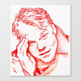 Philip Seymour Hoffman in Red Canvas Print