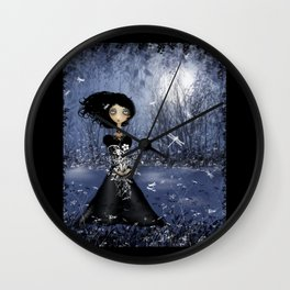 Dark Melancholy Art All in the Moment Wall Clock