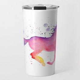 Watercolor Horse Travel Mug