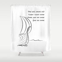 vikings Shower Curtains featuring This will never end, Vikings by ZsaMo Design