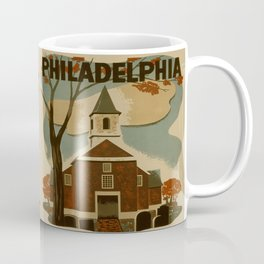 Vintage Philadelphia Poster Coffee Mug