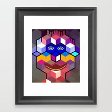 cube face Framed Art Print