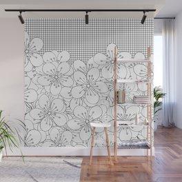 Cherry Blossom Grid - In Memory of Mackenzie Wall Mural