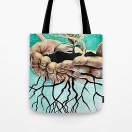 Root Hands Tote Bag