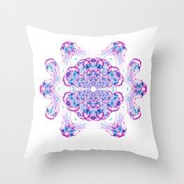 Jellyfish Mandala Throw Pillow