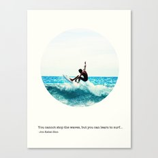 Surf Quote Canvas Print