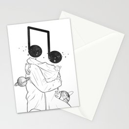 The music love. Stationery Cards