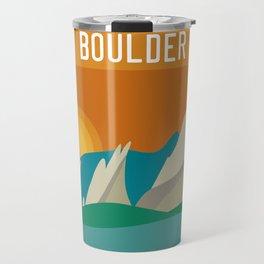 Boulder, Colorado - Skyline Illustration by Loose Petals Travel Mug