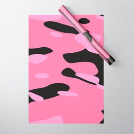 Pink and Black Camo Wrapping Paper