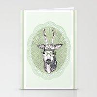 hippie Stationery Cards featuring Hippie Deer! by Sagara Hirsch