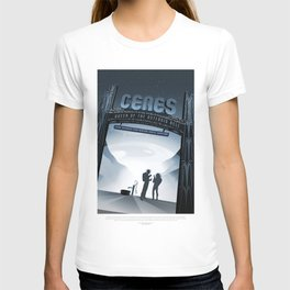 NASA Visions of the Future - Ceres, Queen of the Asteroid Belt T-shirt