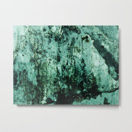 Teal Glass Metal Print