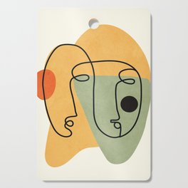 Abstract Faces 19 Cutting Board