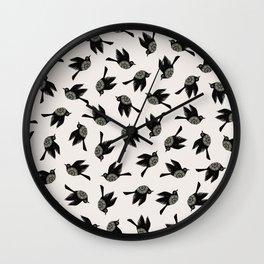 Blackbirds Flying Wall Clock